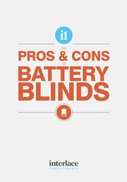 Pros and Cons of Battery Blinds - Interlace Blinds, Essex, UK