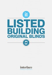 Lisited Building, original blinds - Interlace Blinds, Essex, UK