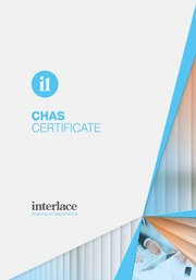 Chas Certificate - Interlace, Blind and Curtain systems, Essex, Suffolk, UK