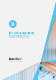 Registration Certificate- Interlace, Blind and Curtain systems, Essex, Suffolk, UK