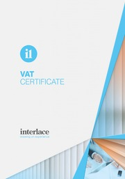VAT Certificate- Interlace, Blind and Curtain systems, Essex, Suffolk, UK
